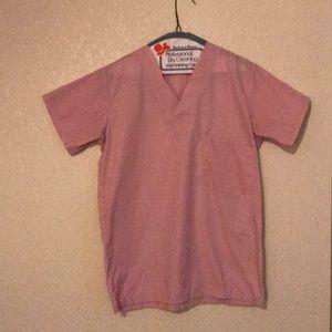 Women's Pink x-small scrub top